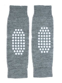 Hirsch Natur Leg Warmers for Kids Anti-Slip - grey