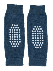 Hirsch Natur Leg Warmers for Kids Anti-Slip - navy