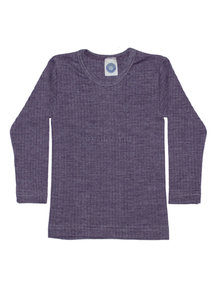 Cosilana Kids Longsleeve Wool/Silk/Cotton - plum