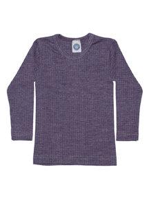 Cosilana Kinder shirt van wol/zijde/katoen - paars