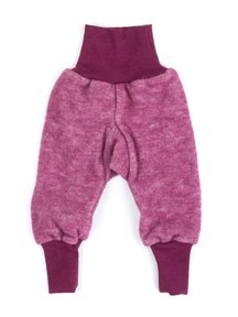 Cosilana Pants Wool Fleece - burgundy