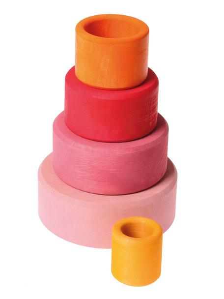 Grimm's Houten bakjes 5-delig - pastel