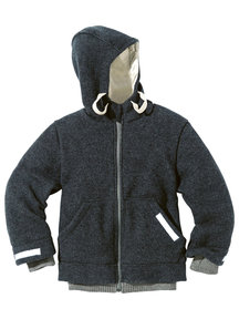 Disana Outdoor Jacket Boiled Wool - anthracite