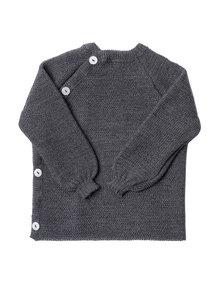 Reiff Cardigan Organic Wool - grey