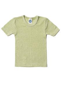 Cosilana Kindershirt korte mouwen van wol/zijde/katoen - groen