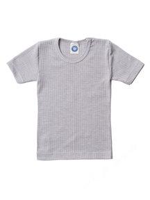 Cosilana Kindershirt korte mouwen van wol/zijde/katoen - grijs