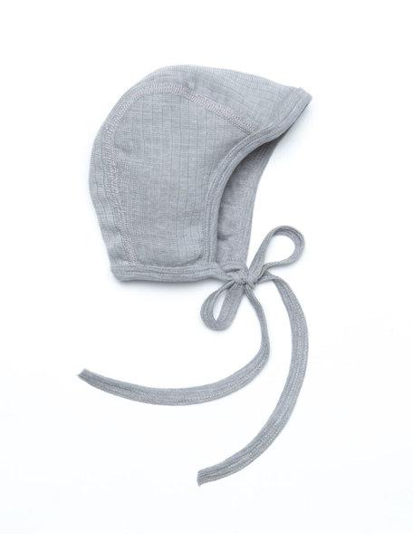 Cosilana Strikmutsje van wol/zijde/katoen - grijs