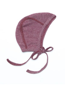 Cosilana Baby Bonnet Wool/Silk/Cotton - Burgundy