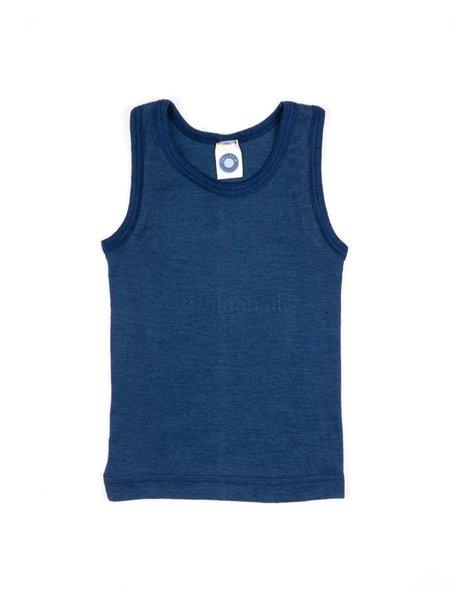 Cosilana Kinderhemd wol/zijde - blauw