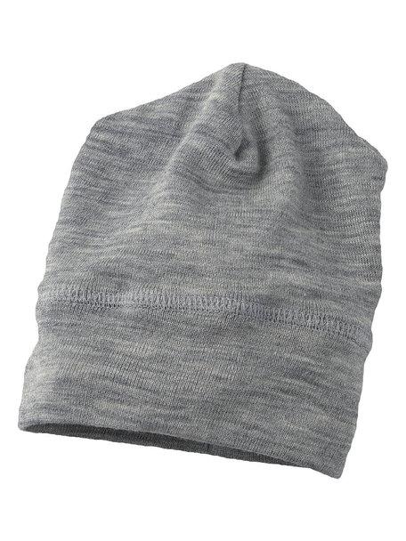 Engel Natur Beanie van wol/zijde - grijs