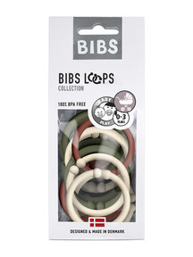 Bibs Loops 12 pieces mix - sand/huntergreen/rust