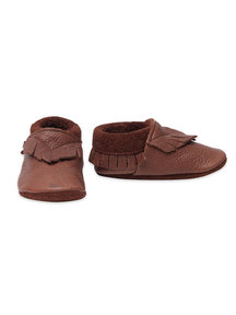 Pantolinos Leren baby mocassins - bruin
