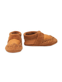 Pantolinos leather baby shoes - sand  - Copy