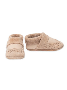 Pantolinos leather baby shoes - Bahama sand