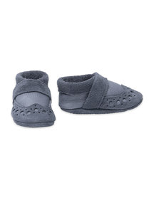 Pantolinos leather baby shoes - grey