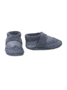 Pantolinos leren baby slofjes - grijs
