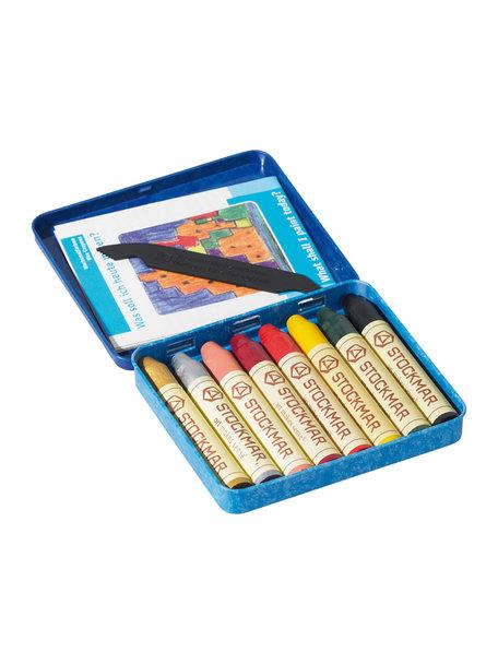 Stockmar Bijenwas krijtstiftjes 8 stuks - aanvullende kleuren