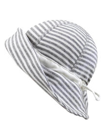 Joha Summer hat - grey striped