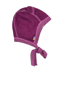 Joha Woolen bonnet with ears - purple