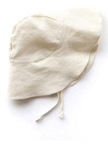 Briar Handmade Linnen zonnehoed - Ivory