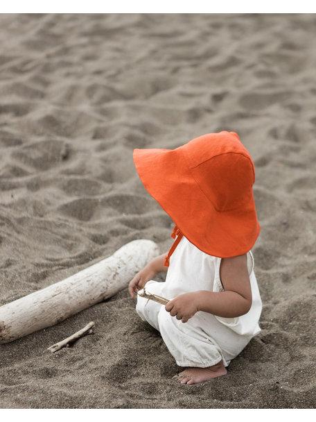 Briar Handmade Linnen zonnehoed - Poppy