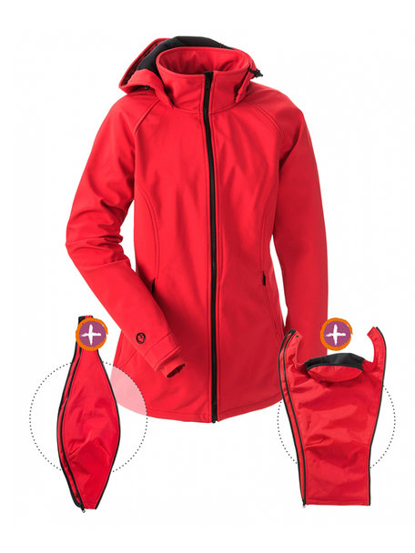 Mamalila draagjas softshell - rood