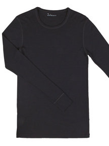 Joha Blouse Merino Wool Men - black