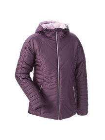 Mamalila quilted winter jacket - aubergine