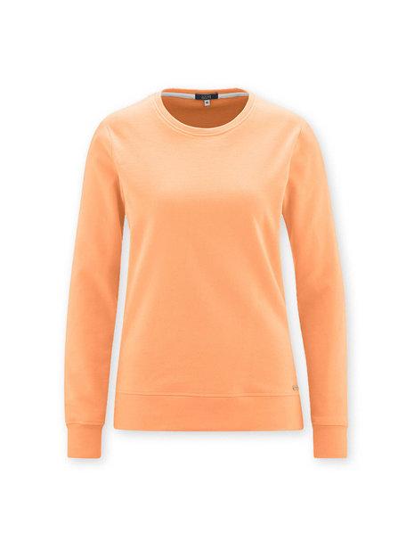 Living Crafts Dames trui van bio katoen - mandarijn