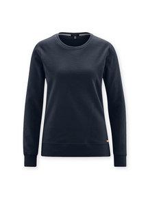 Living Crafts Dames trui van bio katoen - donkerblauw