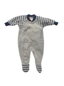 Engel Natur Premature -  Striped Jumpsuit of wool frotté