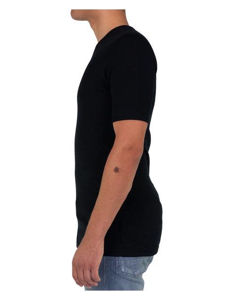 Joha T-shirt Men Merino Wool - black