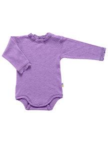 Joha Wool/silk body with long sleeves - purple
