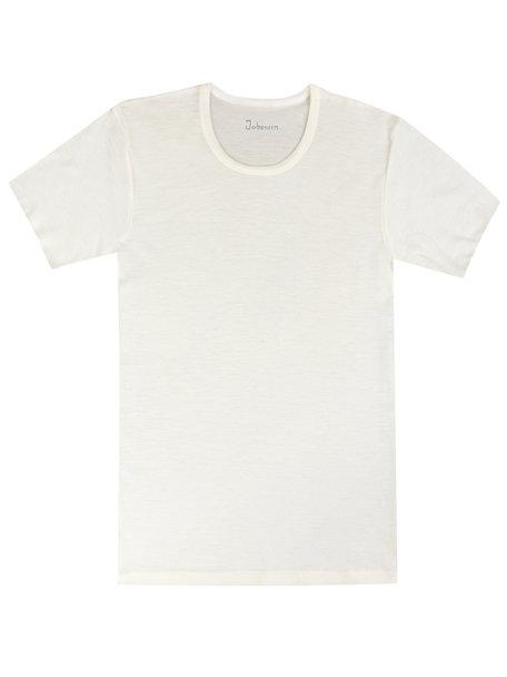 Joha T-shirt Men Merino Wool - white