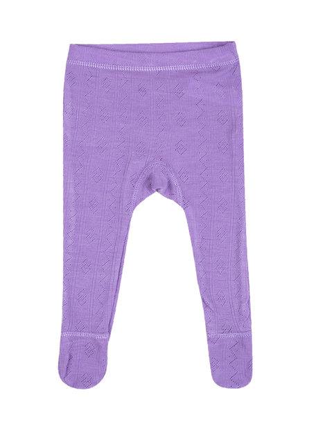 Joha Wool/silk baby legging ajour - lila
