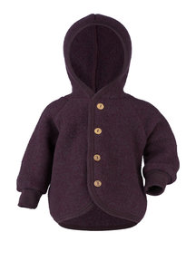 Engel Natur Wool-fleece jacket - lilac