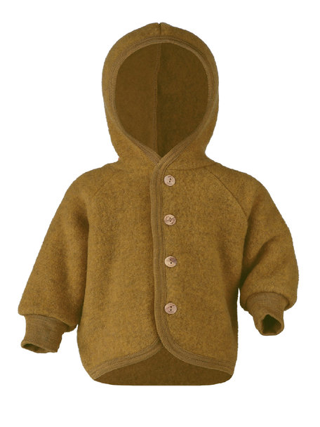Engel Natur Wool-fleece jacket - saffron