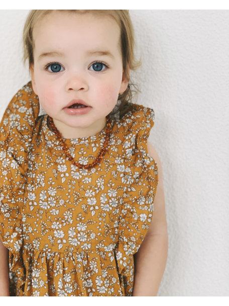 Amber Barnsteen baby ketting 32cm - cognac
