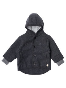 Disana Boiled wool jacket - anthracite