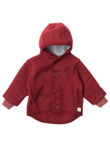 Disana Jacket of boiled wool - burgundy
