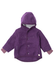 Disana Jacket Boiled Wool - plum