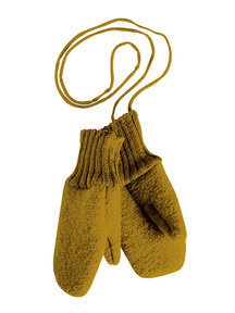 Disana Boiled Wool Mittens - gold