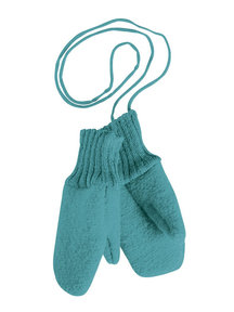 Disana Boiled Wool Mittens - Lagoon