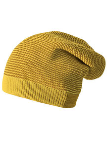 Disana Wollen long-beanie muts - gold