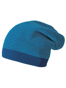 Disana Wollen long-beanie muts - marine
