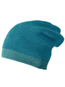 Disana Wollen long-beanie muts - lagoon