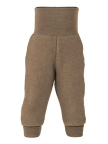 Engel Natur Trousers Wool Fleece - walnut