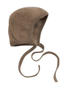 Engel Natur Bonnet Wool Fleece - walnut