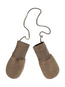 Engel Natur Mittens Wool Fleece - walnut