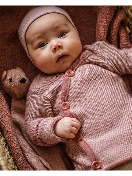 Disana Wikkelvestje van merino wol - oud roze